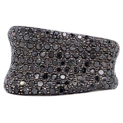 Lucea New York Black Diamond Cocktail Ring