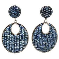 Lucea New York Blue Sapphire Drop Earrings