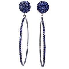 Lucea New York Blue Sapphire Hoop Earrings