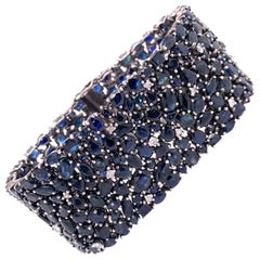 Lucea New York Blue Sapphire Statement Bracelet