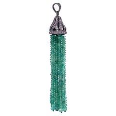 Lucea New York Emerald Tassel Pendant