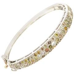 Lucea New York Fancy Diamonds Bangle Bracelet