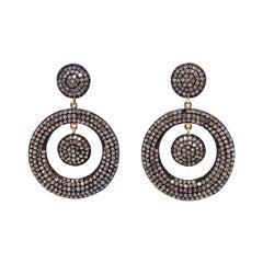 Lucea New York Icy Diamond Circle Drop Earring