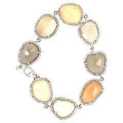 Lucea New York Moon Stone Link Bracelet