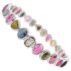 Lucea New York Multi-Color and Multi Shape Tourmaline Bangle Bracelet