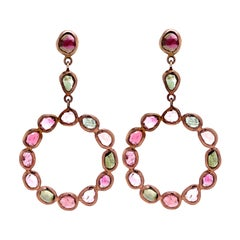 Lucea New York Multicolor Tourmaline Circle Drop Earring