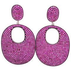 Lucea New York Ruby Drop Disc Earrings