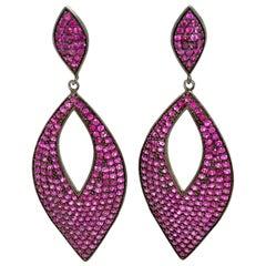 Lucea New York Ruby Drop Earrings