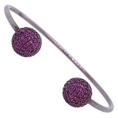 Lucea New York Ruby Open Bangle Bracelet