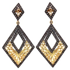 Lucea New York Rustic Diamond and Gold Plated Earring