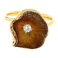 Lucea New York Tainted Rhodium Diamond Ring