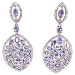 Lucea New York Tanzanite and Diamond Dangle Earrings