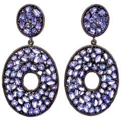 Lucea New York Tanzanite and Diamond Drop Earrings