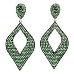 Lucea New York Tsavorite Garnet Drop Earrings