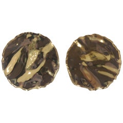 Lucedeimieiocchi gold silver boutons earrings
