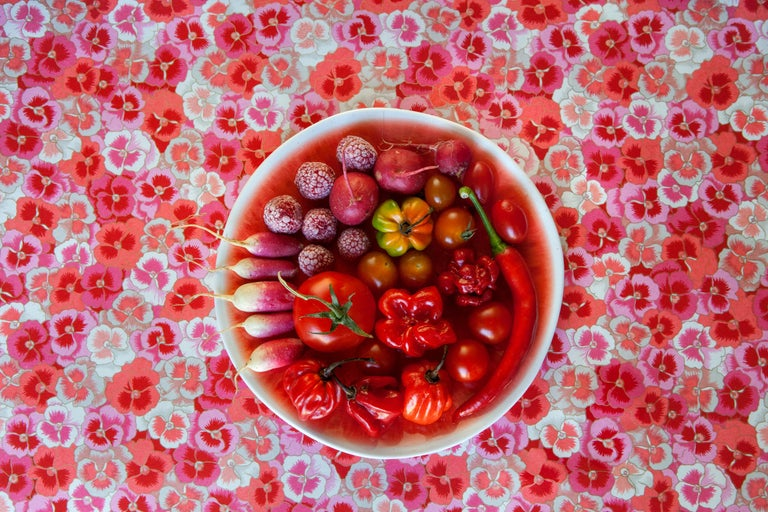 Lucia Fainzilber Still-Life Photograph - Carmin - The Cookbook Series