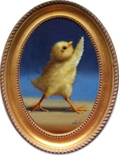 """""""Yoga Chick 2"""" Oil Painting"""