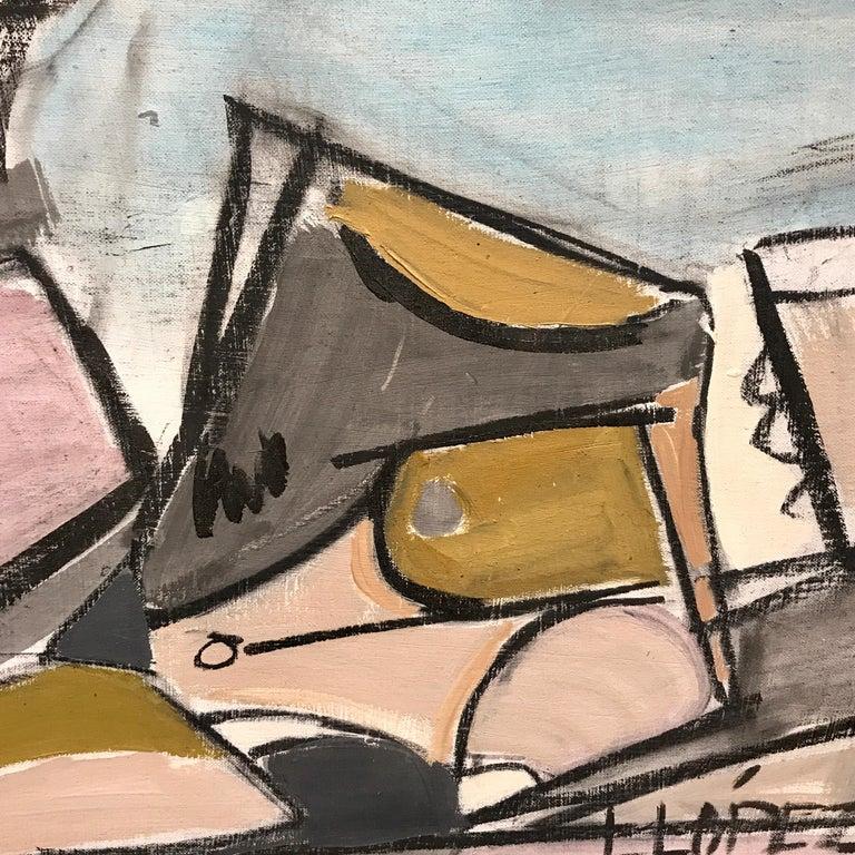 Lucia Lopez Cubist Nude, 1960s In Good Condition For Sale In Atlanta, GA