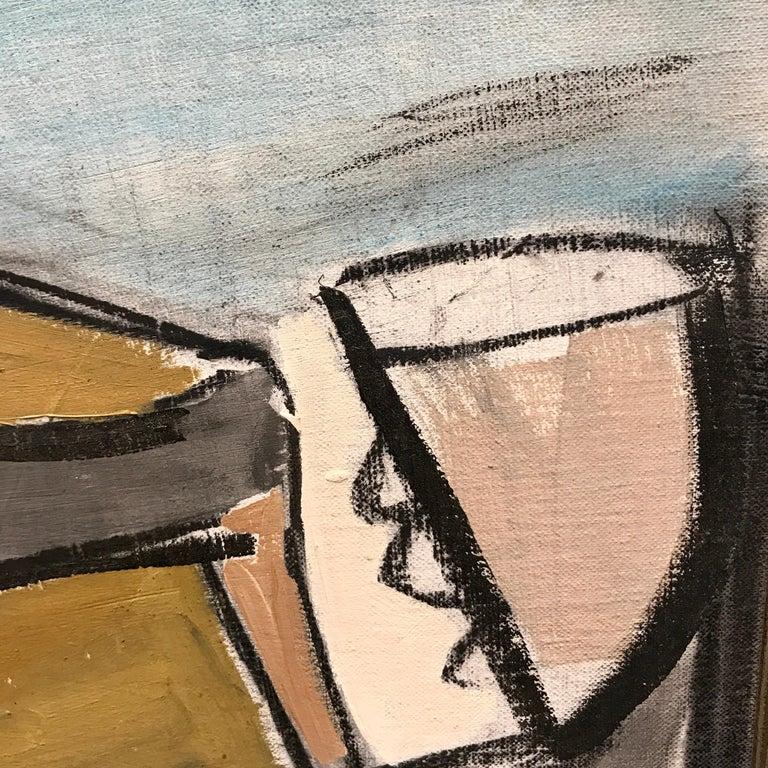20th Century Lucia Lopez Cubist Nude, 1960s For Sale