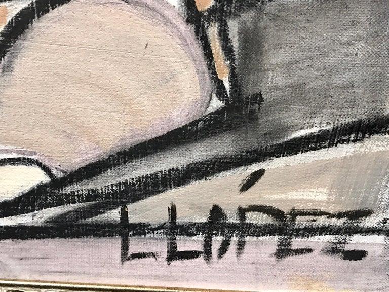 Lucia Lopez Cubist Nude, 1960s For Sale 1