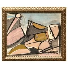 Lucia Lopez Cubist Nude, 1960s