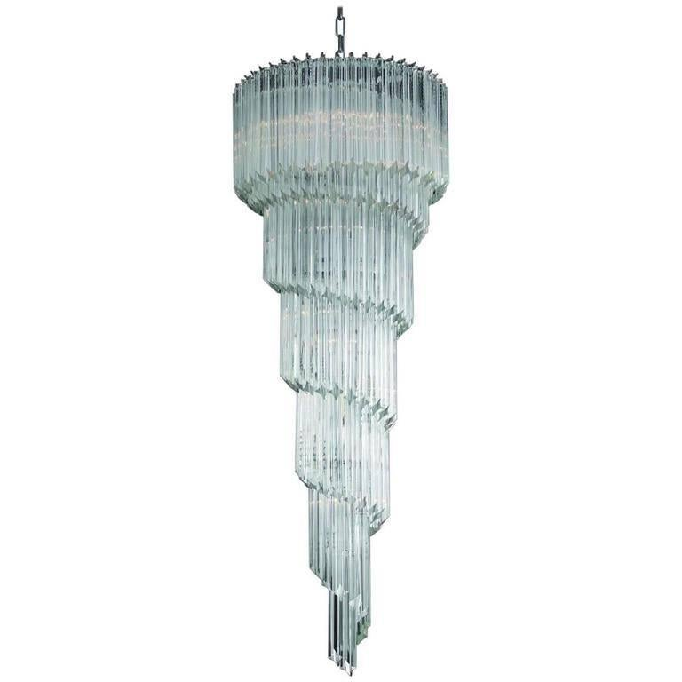 Murano Spiral Chandelier: Spiral Murano Chandelier For Sale At 1stdibs