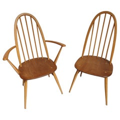Lucian Ercolani, Pair of Armchair and Windsor Chair, Circa 1960