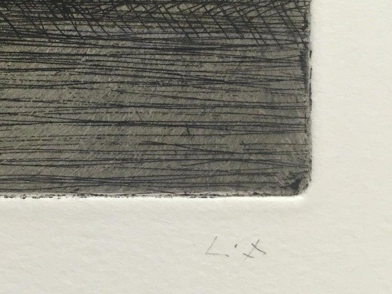 After Chardin - Black Portrait Print by Lucian Freud