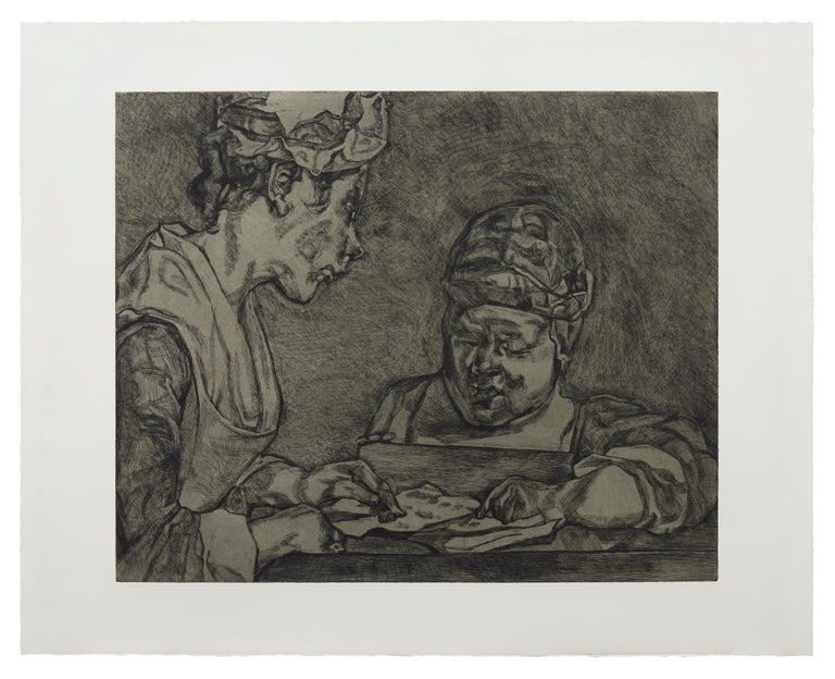 Lucian Freud Portrait Print - After Chardin