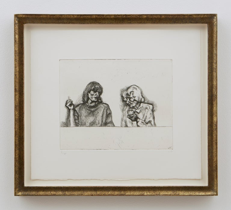 Conversation - Contemporary Print by Lucian Freud