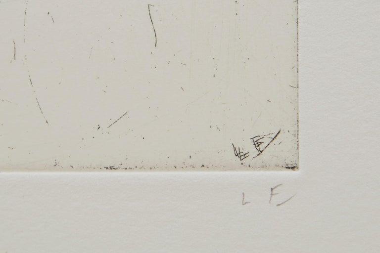 Conversation - Beige Portrait Print by Lucian Freud
