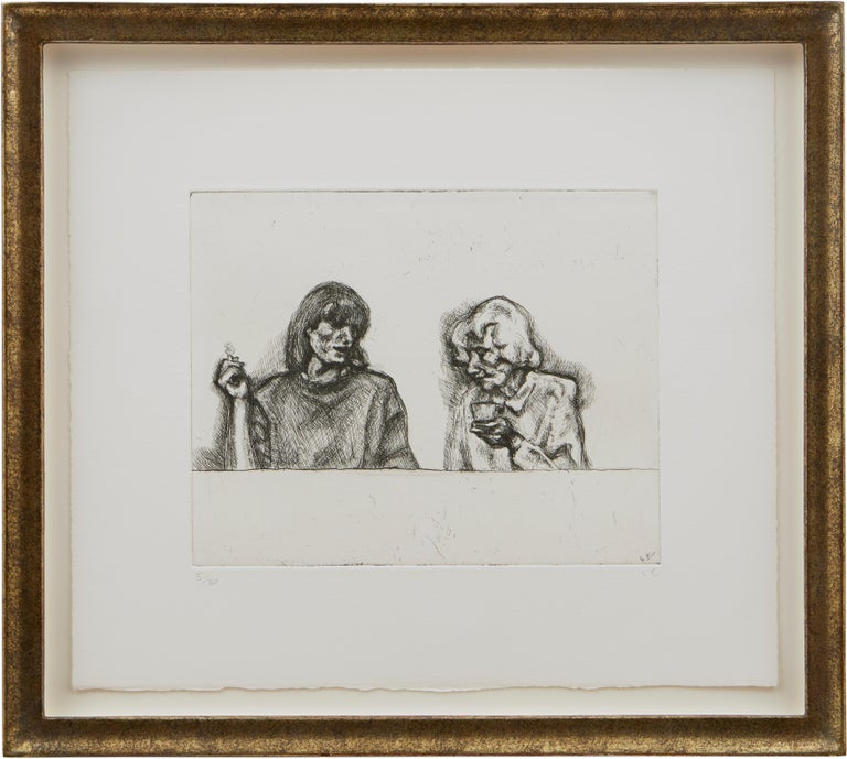 Conversation - Print by Lucian Freud