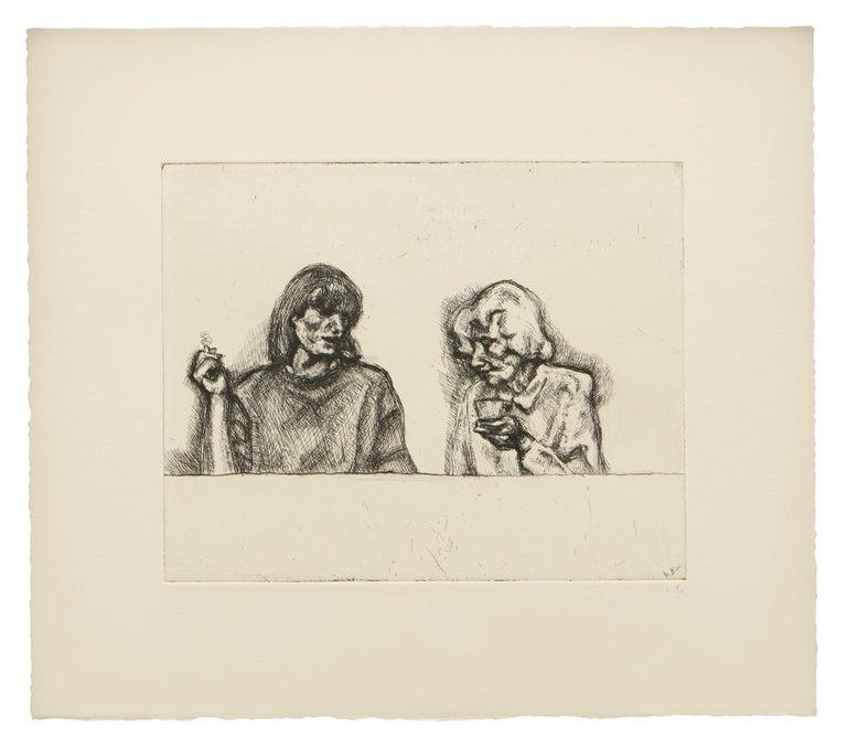 Lucian Freud Portrait Print - Conversation
