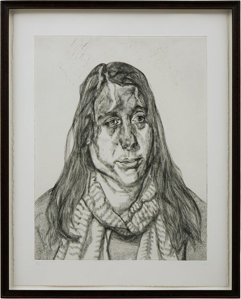 Portrait Head - Print by Lucian Freud