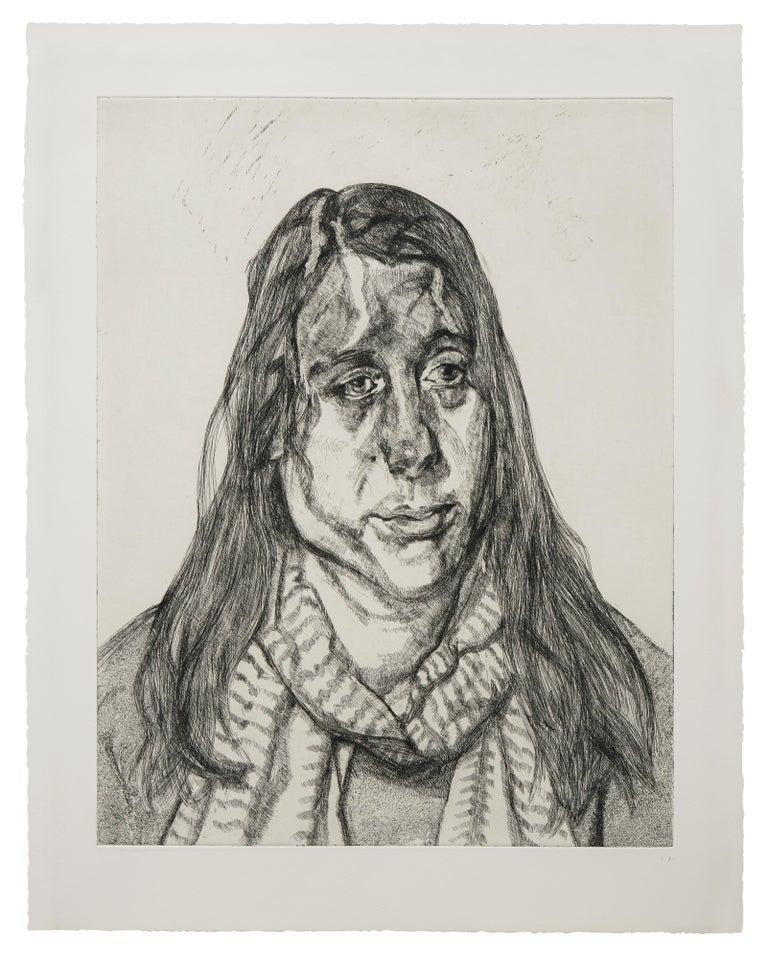 Lucian Freud Portrait Print - Portrait Head