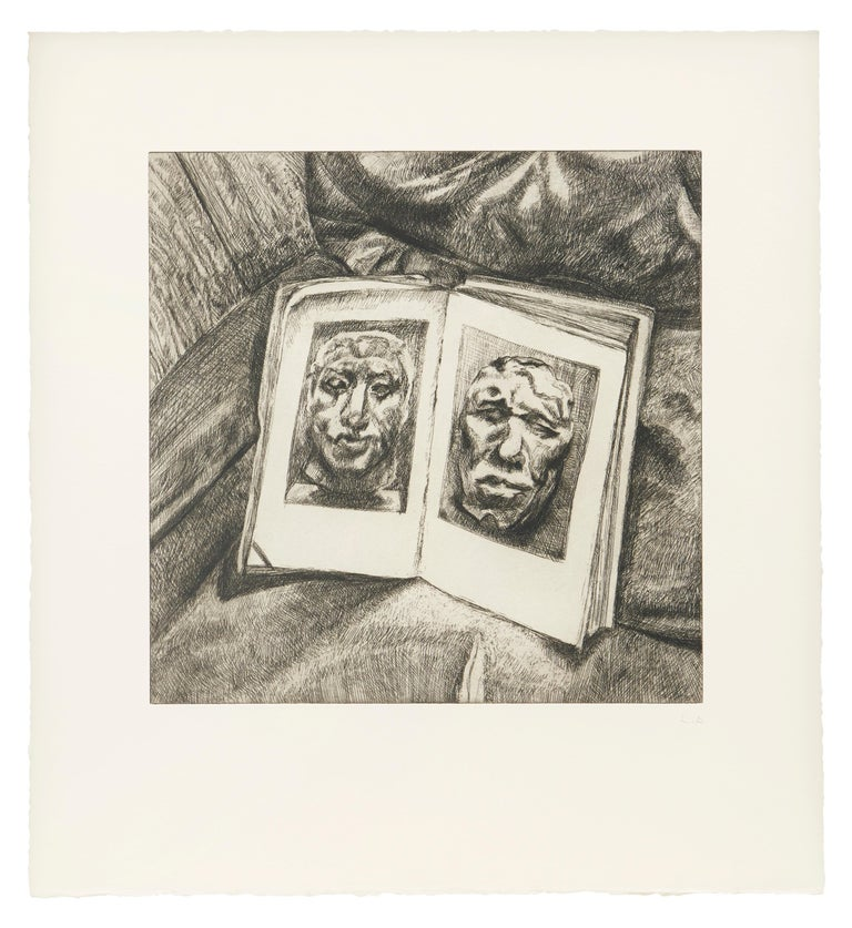 Lucian Freud Interior Print - The Egyptian Book