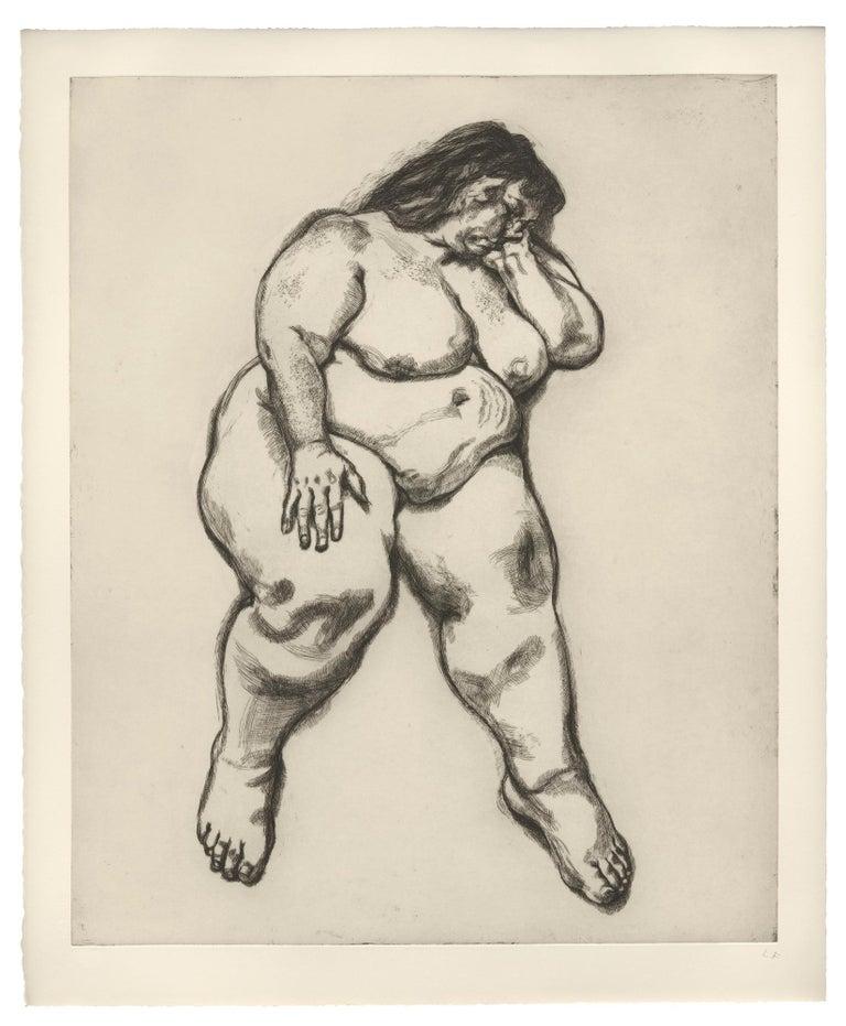 Lucian Freud Nude Print - Woman Sleeping