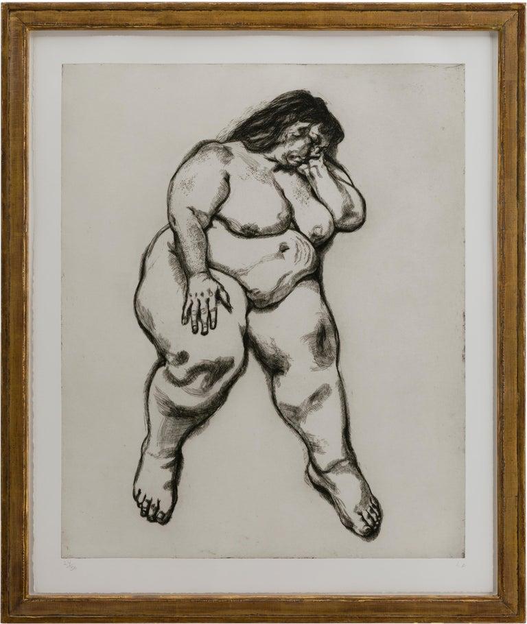 Woman Sleeping - Print by Lucian Freud