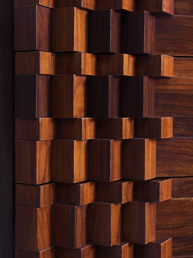 Luciana Frigerio Graphic Credenza in Rosewood For Sale 1