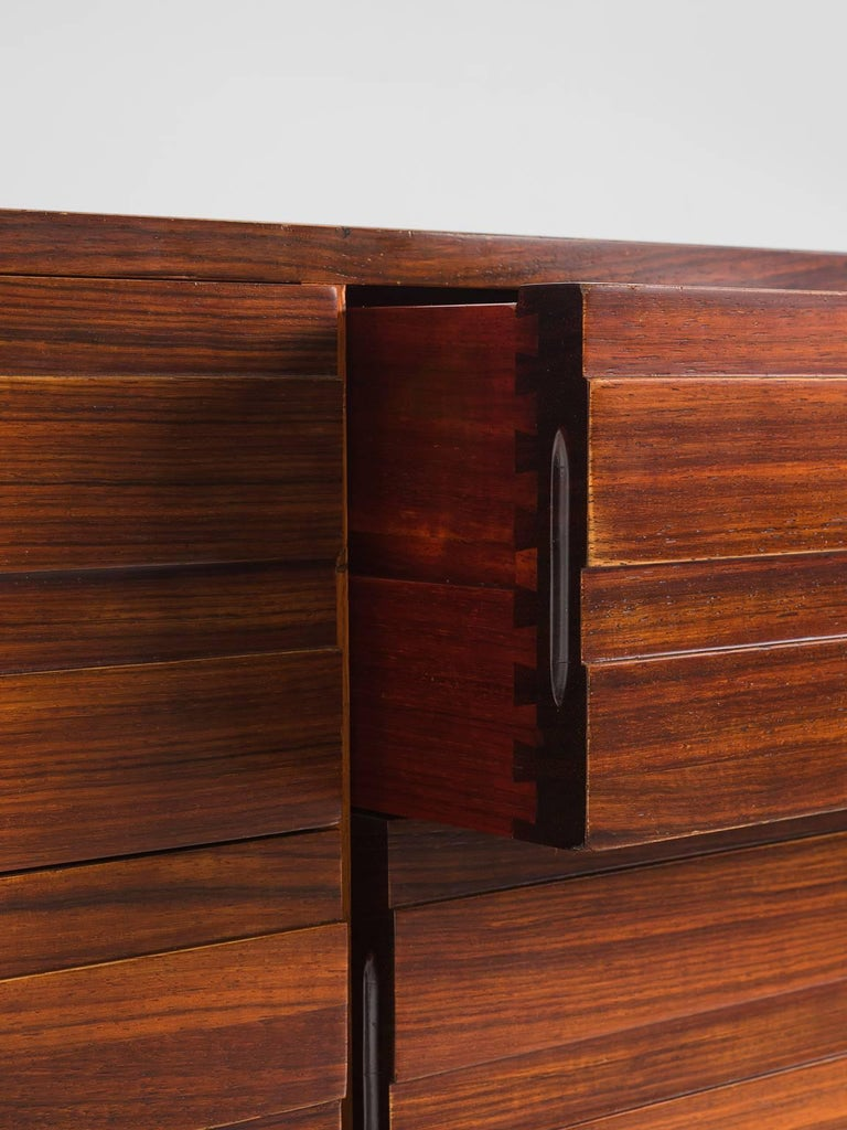 Luciana Frigerio Graphic Credenza in Rosewood For Sale 2