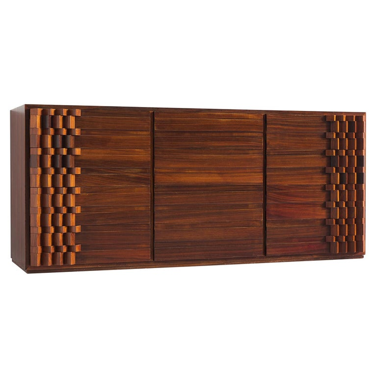 Luciana Frigerio Graphic Credenza in Rosewood For Sale