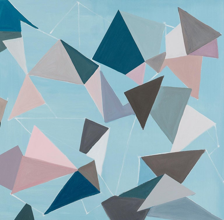 Untitled (Bichos-After Lygia Clark) - Abstract Geometric Painting by Luciana Levinton