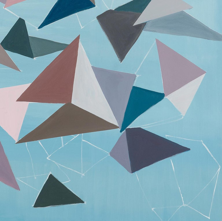 Untitled (Bichos-After Lygia Clark) - Blue Abstract Painting by Luciana Levinton