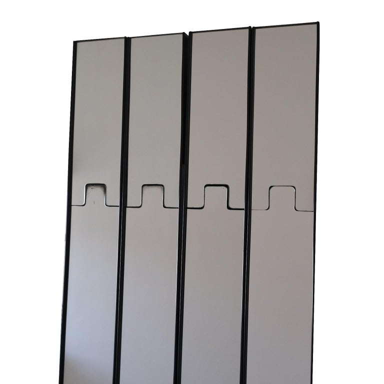 Glass Luciano Bertoncini, a Wall Mirror and Coat-Rack,