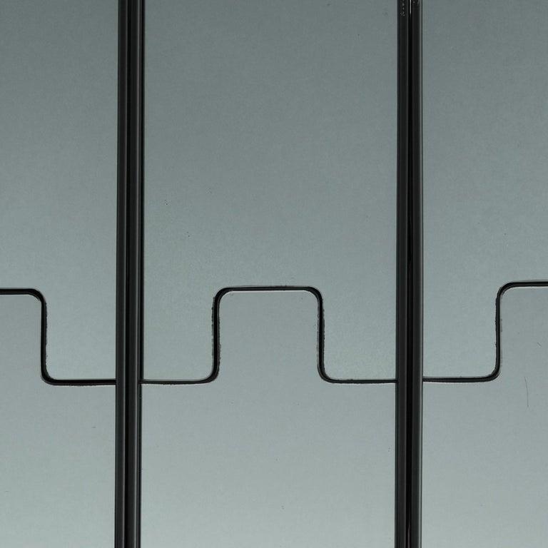 Mid-Century Modern Luciano Bertoncini, Wall Mirror Coat-Rack,