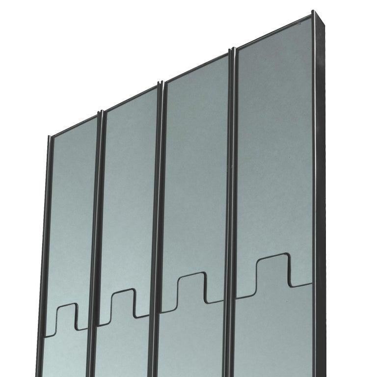 Italian Luciano Bertoncini, Wall Mirror Coat-Rack,