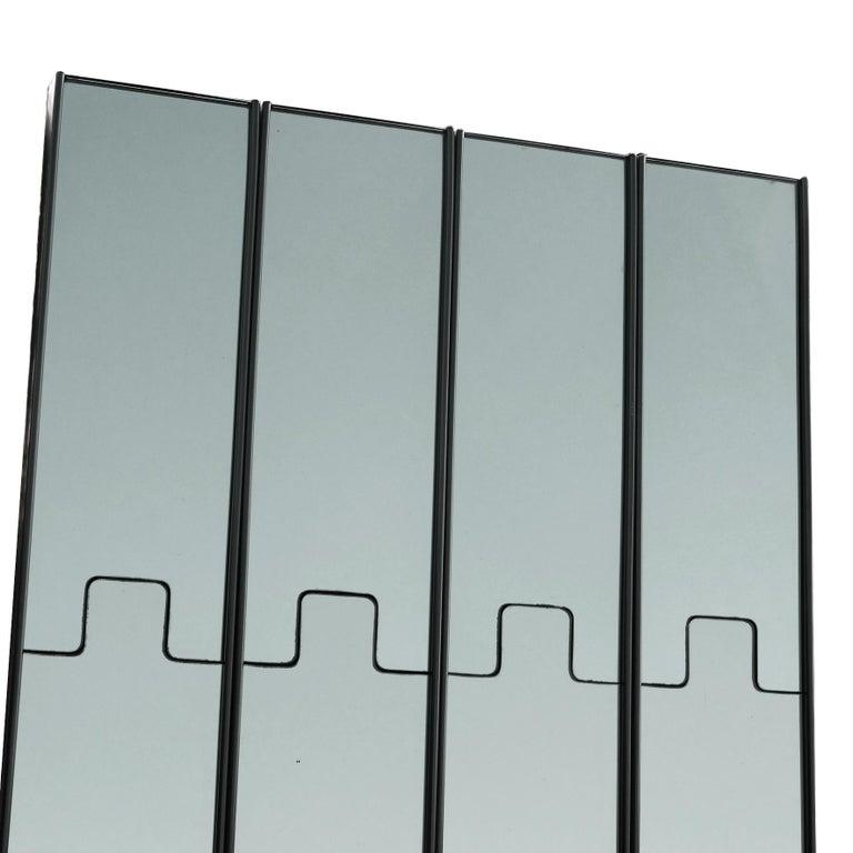 Late 20th Century Luciano Bertoncini, Wall Mirror Coat-Rack,