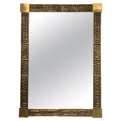 Luciano Frigerio Bronze Mirror, 1970s