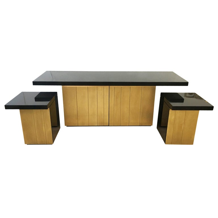 Luciano Frigerio Console or Cabinet Set, Italy, 1960s In Good Condition For Sale In New York, NY