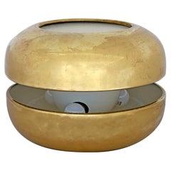 """Luciano Frigerio Italian Table Lamp Vibrated Brass """"Ballata Alta"""", 1974"""